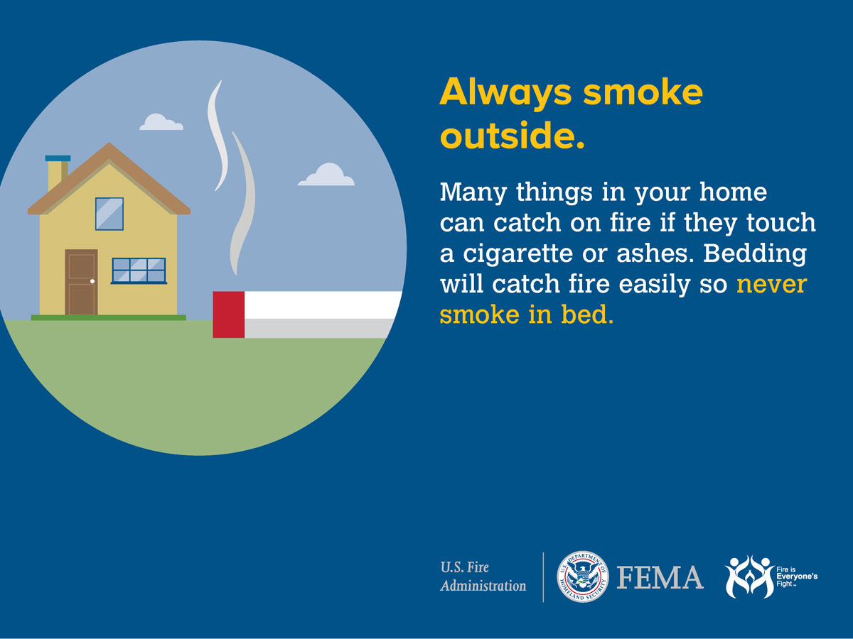 Smoking and Fire Safety- Facts and Stats, & Tips and Tricks